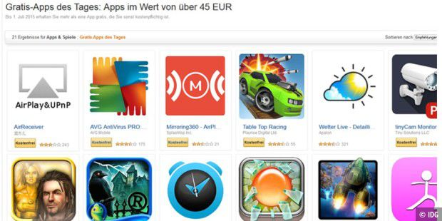 Amazon verschenkt Android-Apps