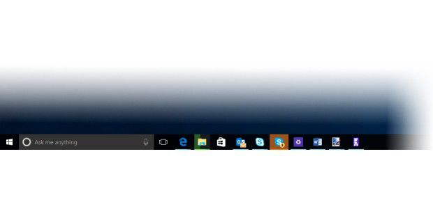 Windows 10 Build 10158: Blick auf die Taskleiste