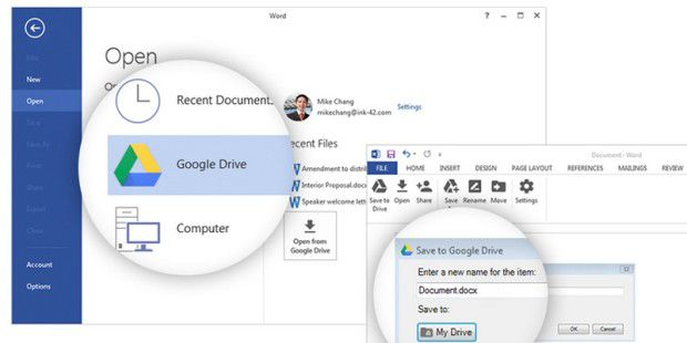 Google Drive-Plug-In für Office