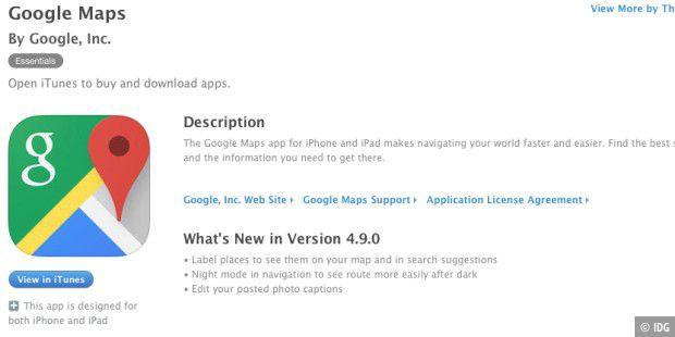 Google Maps für iOS bekommt Nachtmodus - Macwelt on