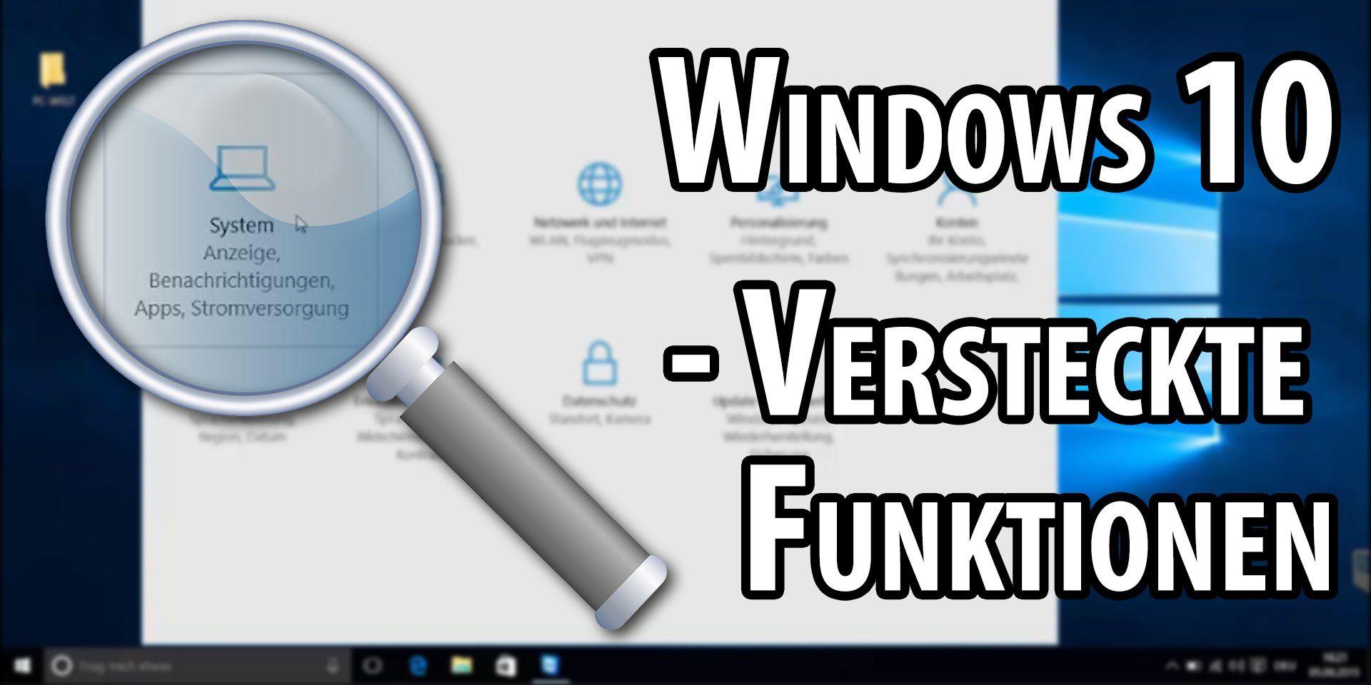 Video: Windows 10 - Versteckte Funktionen