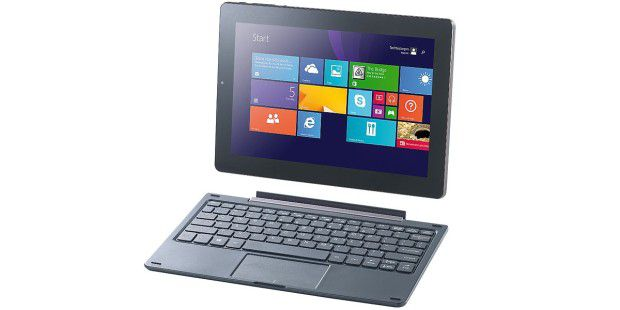 Günstiges Windows-Tablet mit Tastatur im Test: Pearl Touchlet XWi10.twin