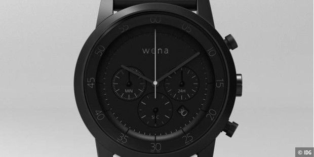 Diw Wena Wrist in der Chronograph-Version in Premium Black.