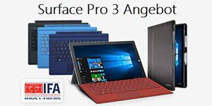 Surface Pro 3 + gratis Type Cover + Maroo Sleeve dazu