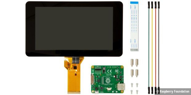 Komponenten des Raspberry-Displays