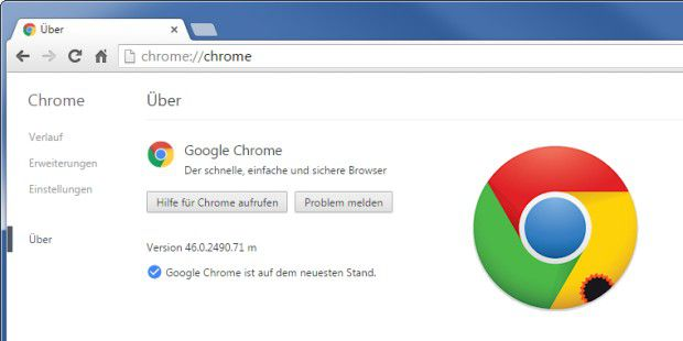 Update auf Chrome 46