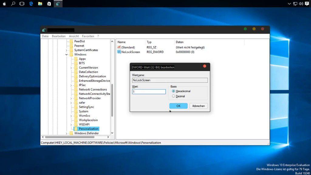 So schalten Sie in Windows 10 den Sperrbildschirm ab