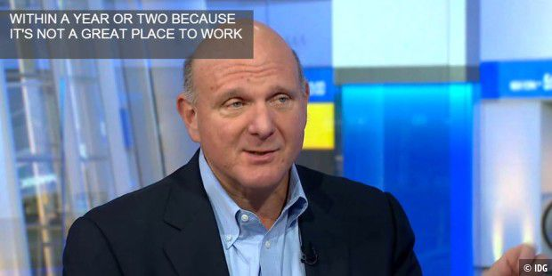 Steve Ballmer im Interview bei Bloomberg TV