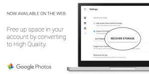 Google Fotos hilft bei der Speicherverwaltung
