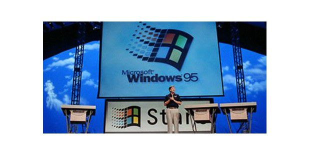 Bill Gates stellt Windows 95 vor