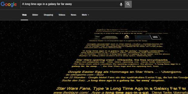Star-Wars-Easter-Egg in der Google Suche