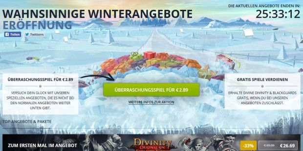 Winteraktion bei GOG.com