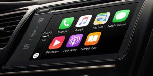 Carplay im Porsche Panamera mit 12,3-Zoll-Display