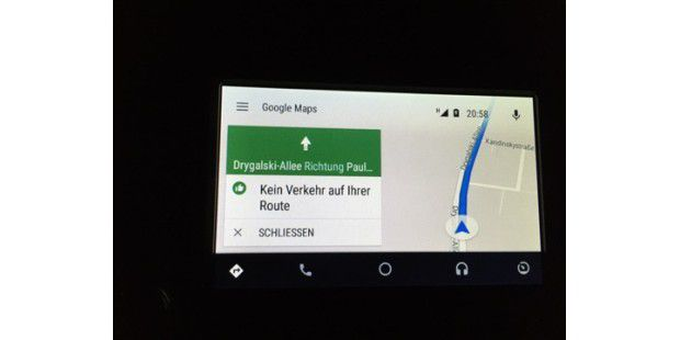Navigation in Android Auto