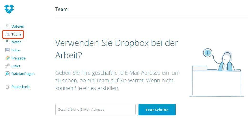 dropbox, onedrive & google drive - cloud-speicher im vergleich, Einladung