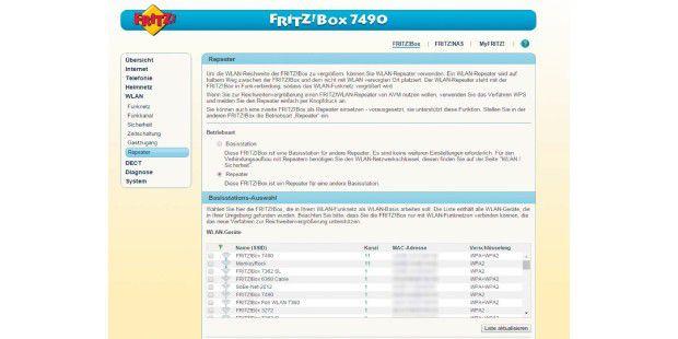 Eine ältere Fritzbox können Sie zusammen mit einem aktuellen Modell als Repeater einsetzen
