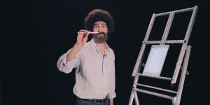 Bob-Ross-Double erklärt Photoshop Sketch für iPad Pro
