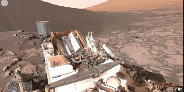 360 Grad Video auf Youtube vom Mars Rover Curiosity