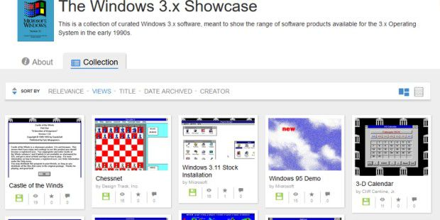The Windows 3.x Showcase auf Archive.org