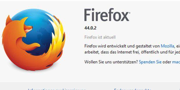Firefox 44.0.2 behebt Absturz-Bug und stopft Lücke