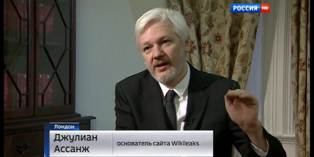 Julian Assange im Interview mit Rossia 1