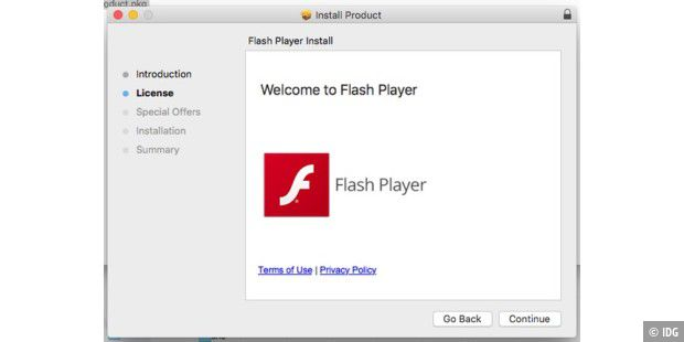 Der falsche Flash-Installer