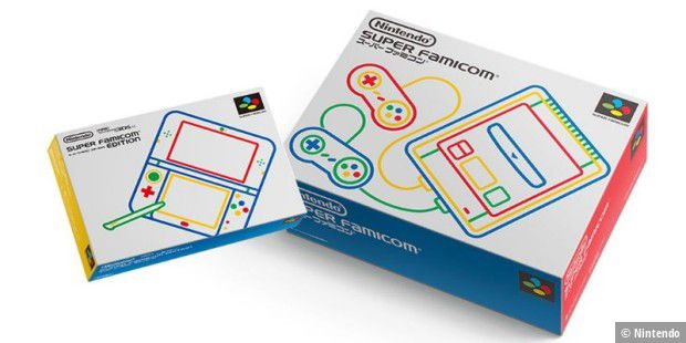 3DS LL - Super Famicom Edition, Die Verkaufs-Box