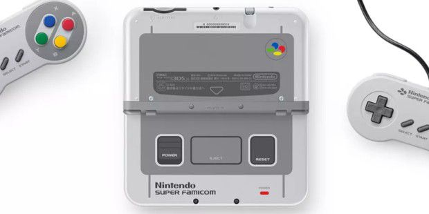 Der Nintendo 3DS LL in der Super Famicom Edition