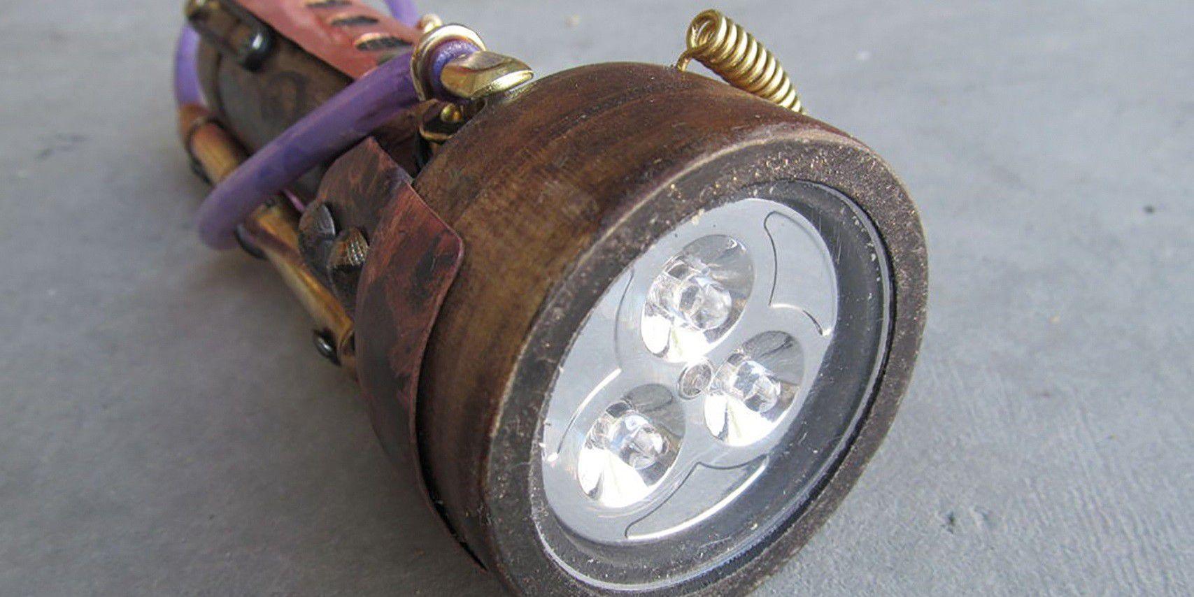 steampunk taschenlampe anleitung zum selberbauen pc welt. Black Bedroom Furniture Sets. Home Design Ideas
