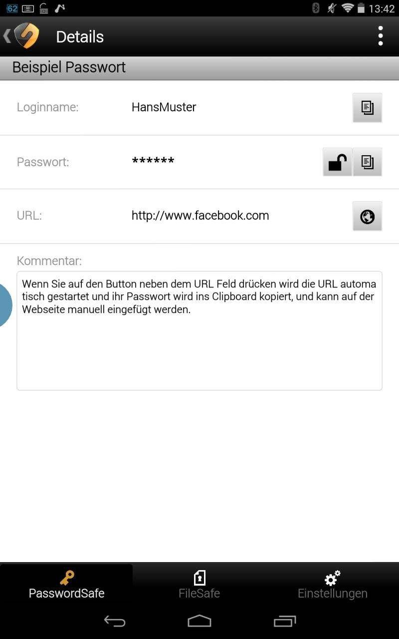 Securesafe Passwort Manager