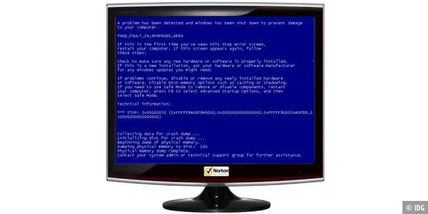 Norton / Symantec :Blue Screen of Death