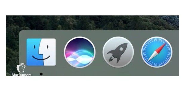 Siri Icon im Dock