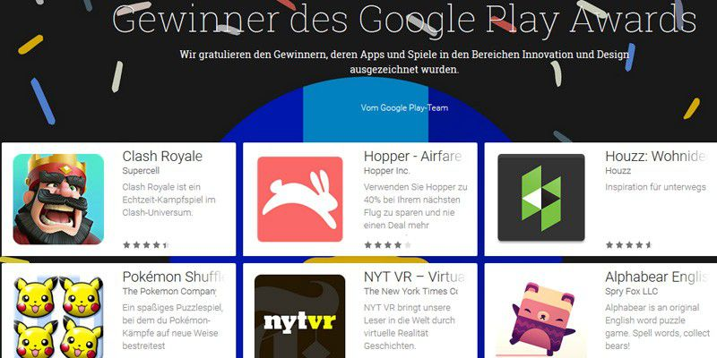 google play awards 2016 die besten android apps des jahres pc welt. Black Bedroom Furniture Sets. Home Design Ideas