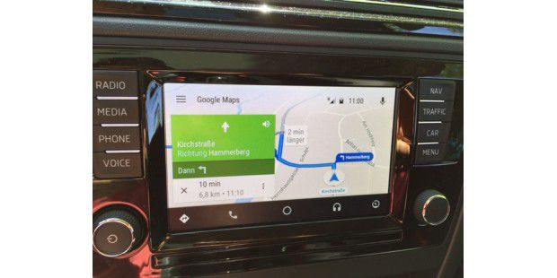 android auto im test funktionen apps anbieter pc welt. Black Bedroom Furniture Sets. Home Design Ideas