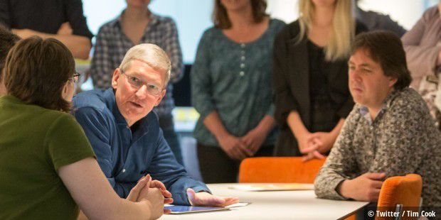 Tim Cook besucht in Amsterdam AssistiveWare.