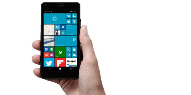 Das Microsoft Lumia 650 mit Windows 10 Mobile.