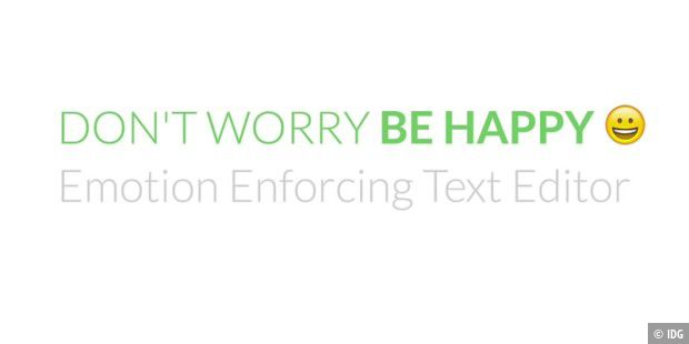 "Text-Editor ""Don´t Worry Be Happy"""