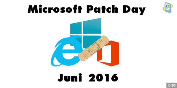 Patch Day im Juni mit 16 Bulletins