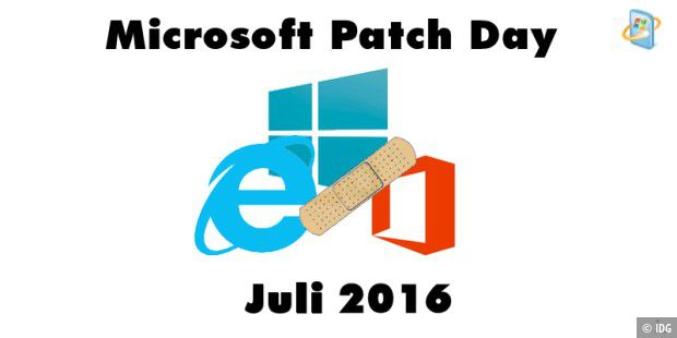 Patch Day Juli mit 11 Security Bulletins