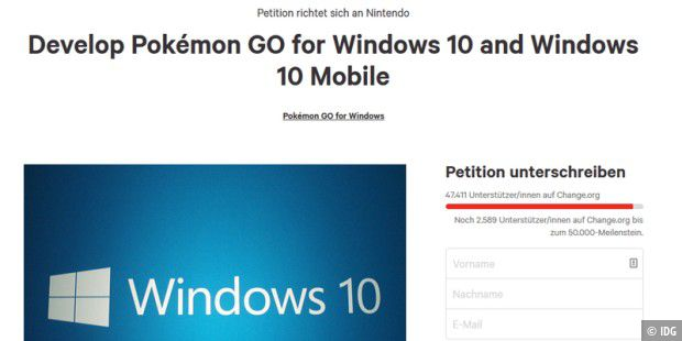 Online-Petition fordert Pokémon Go für Windows