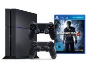 Sony Play Station 4 + Uncharted 4 + 2 Controller