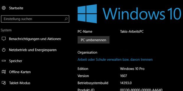 Windows 10 Insider Preview Build 14393 geht an die Tester