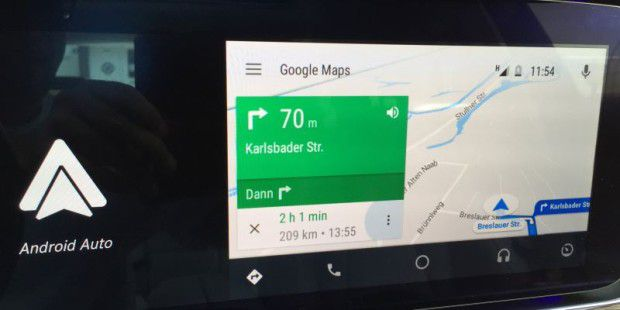 Android Auto: Navigation mit Google Maps