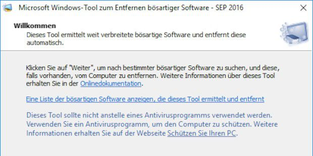 Windows-Tool zum Entfernen bösartiger Software, Version 5.40