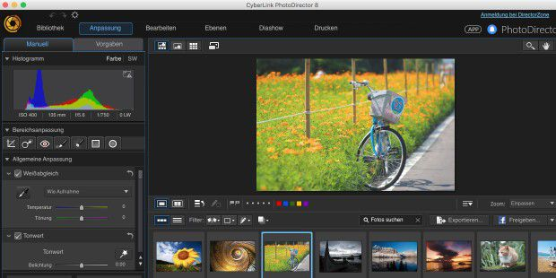Photo Director ist eine Alternative zu Lightroom und Apple Fotos