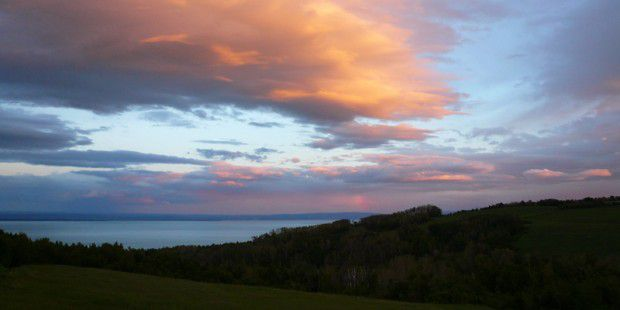 Sunset clouds in Charlevoix