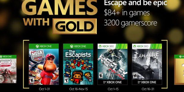 Games with Gold im Oktober 2016