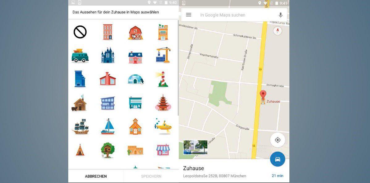 Amazing Vergrößern Greifen Sie Auf Diverse Verschiedene Symbole Zurück, Mit Denen Sie  Ihr Zuhause Oder Ihren Arbeitsplatz Auf Der Google Maps Karte Markieren