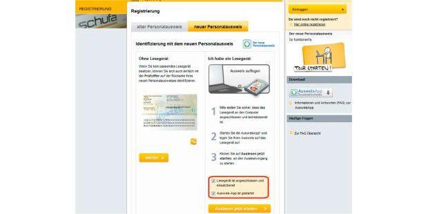 Onlinefunktion Ausweis