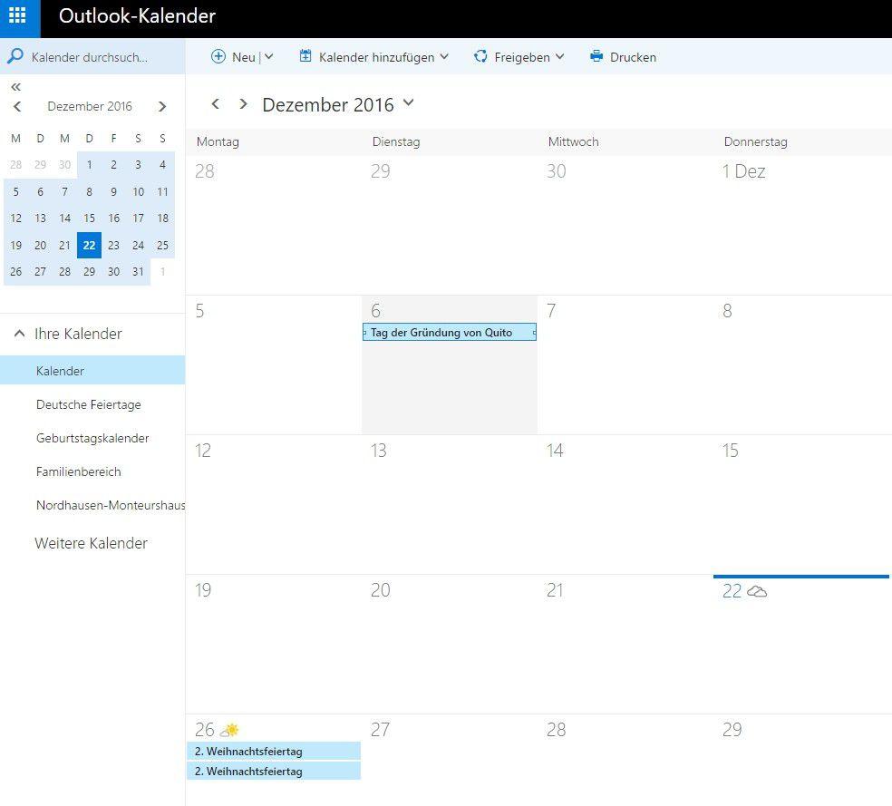 Outlook-Kalender von Microsoft - PC-WELT